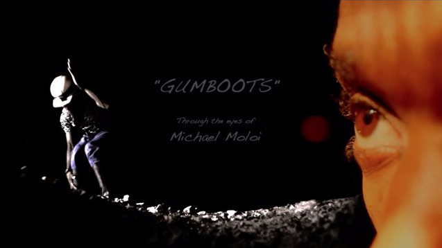 "Thumbnail of the documentary GUMBOOTS"" Through the eyes of Michael Moloi"