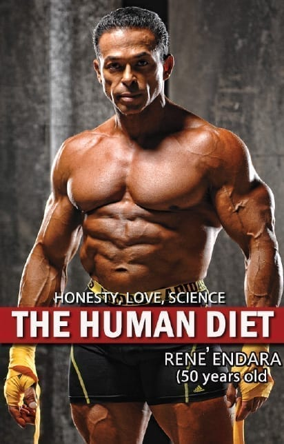 """Cover image of Rene Endara's book """"The Human Diet"""""""